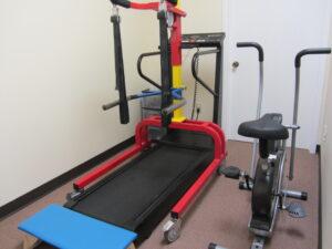 Treadmill and litegait treatment room